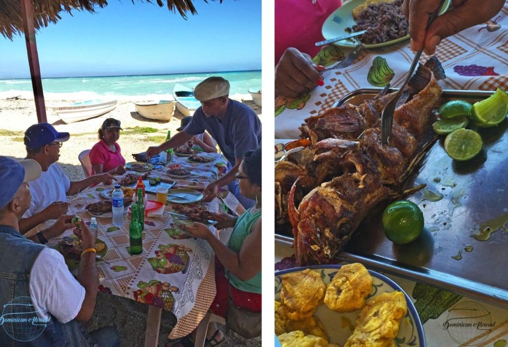 Eating at Los Patos Beach