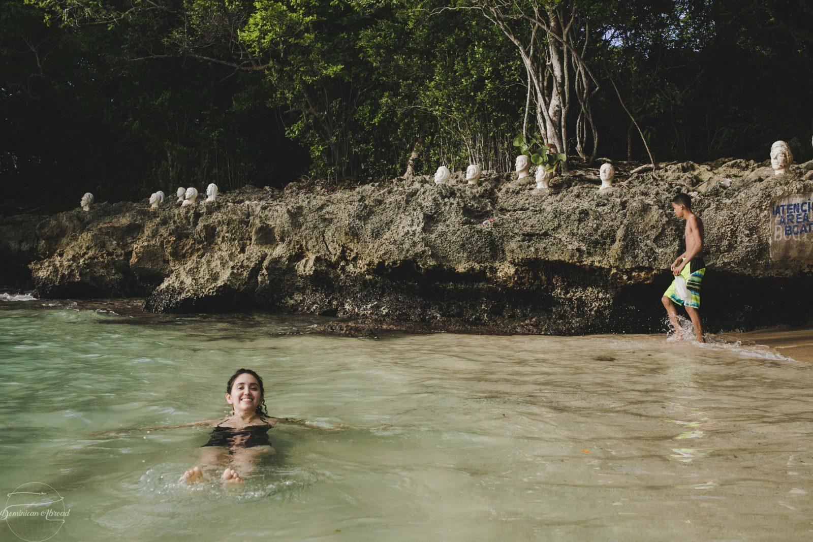 Swimming at Playa Caleton in the Dominican Republic.
