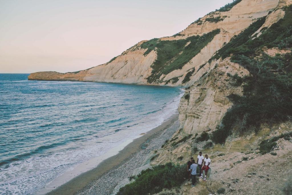 A beautiful shot of the prsitine blue water and sandy beaches at el morro de monte cristi