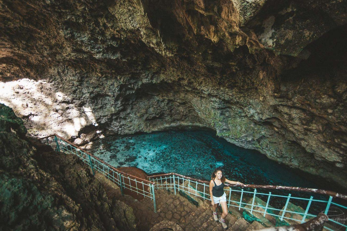 """Also known locally in the Dominican Republic as """"the eyes"""", this is the Three Eyes National Park inature reserve, with its open-air limestone cave system with a series of crystal clear lakes."""