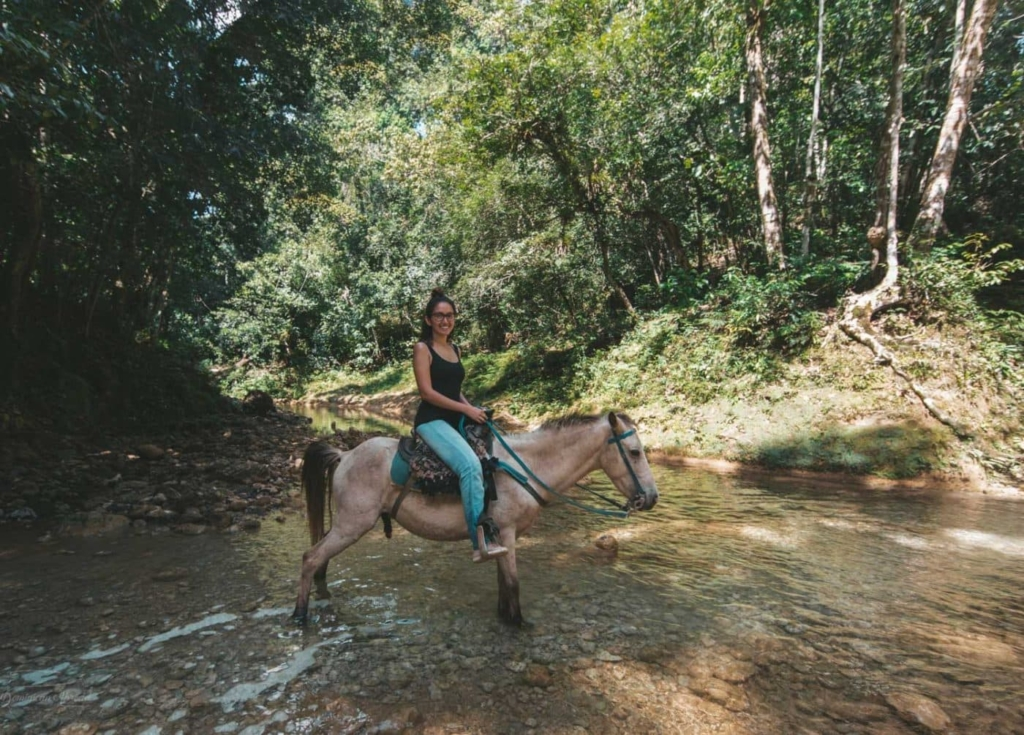 horse back riding to a waterfall in the dominican republic